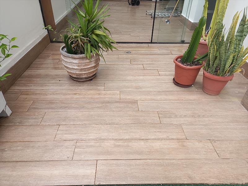 Lavagem piso porcelanato