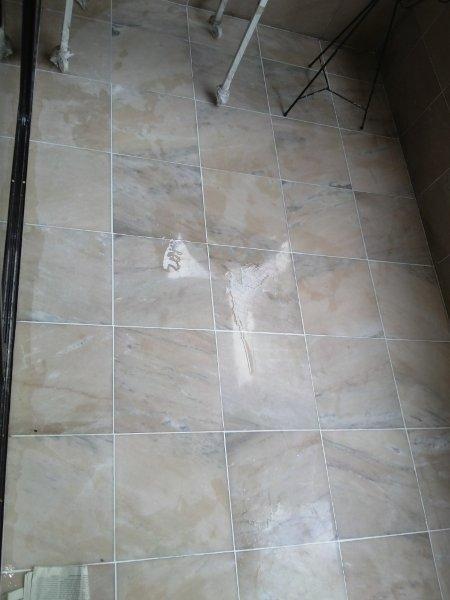 Restauração de piso de mármore